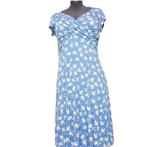 Leota Birds And The Bees Dove Dress Size S